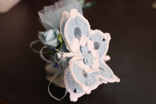 Famoso farfalla bomboniera uncinetto schema gratis tutorial bambini HU17