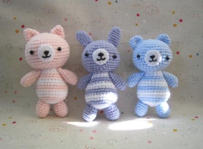 Orsetto piccolo schema amigurumi (1) - magiedifilo.it punto croce ... | 299x407