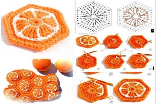 presina a forma di arancio