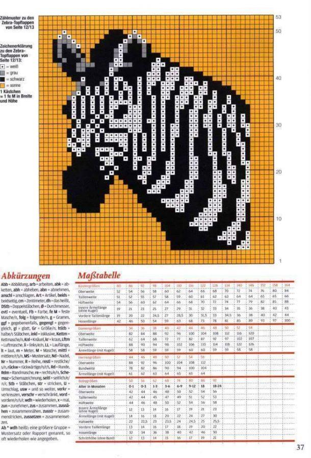 presina a forma di zebra