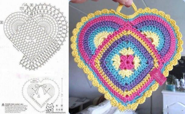Presine Varie Forme Schema Gratis Uncinetto Crochet