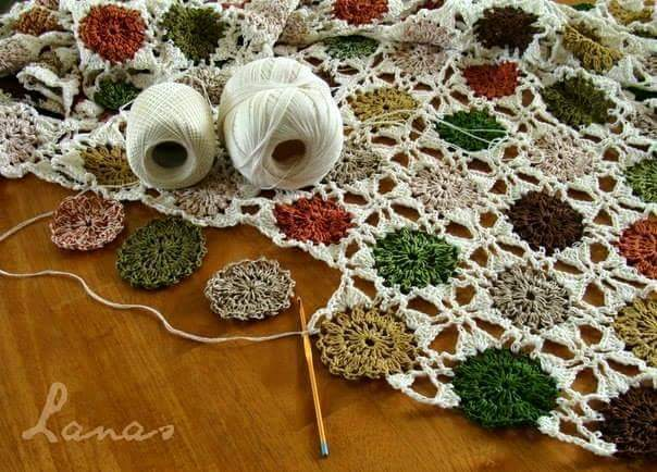 tappeto da tavolo schema gratis tutorial crochet uncinetto