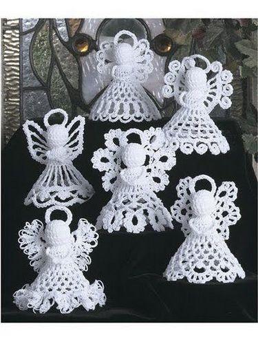 Angeli Schemi Gratis Free Crochet Uncinetto Natale Tutorial