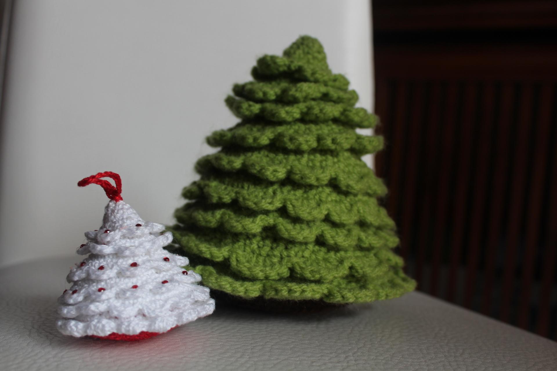 Amigurumi Tutorial Natale : albero di natale bianco tutorial schema gratis free ...
