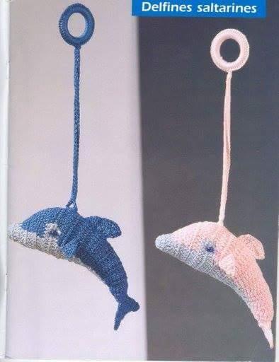 Delfino rosa e blu