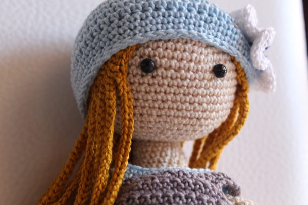 Bambola Amigurumi Uncinetto Tutorial🌷Muñeca Crochet - Doll ... | 407x610