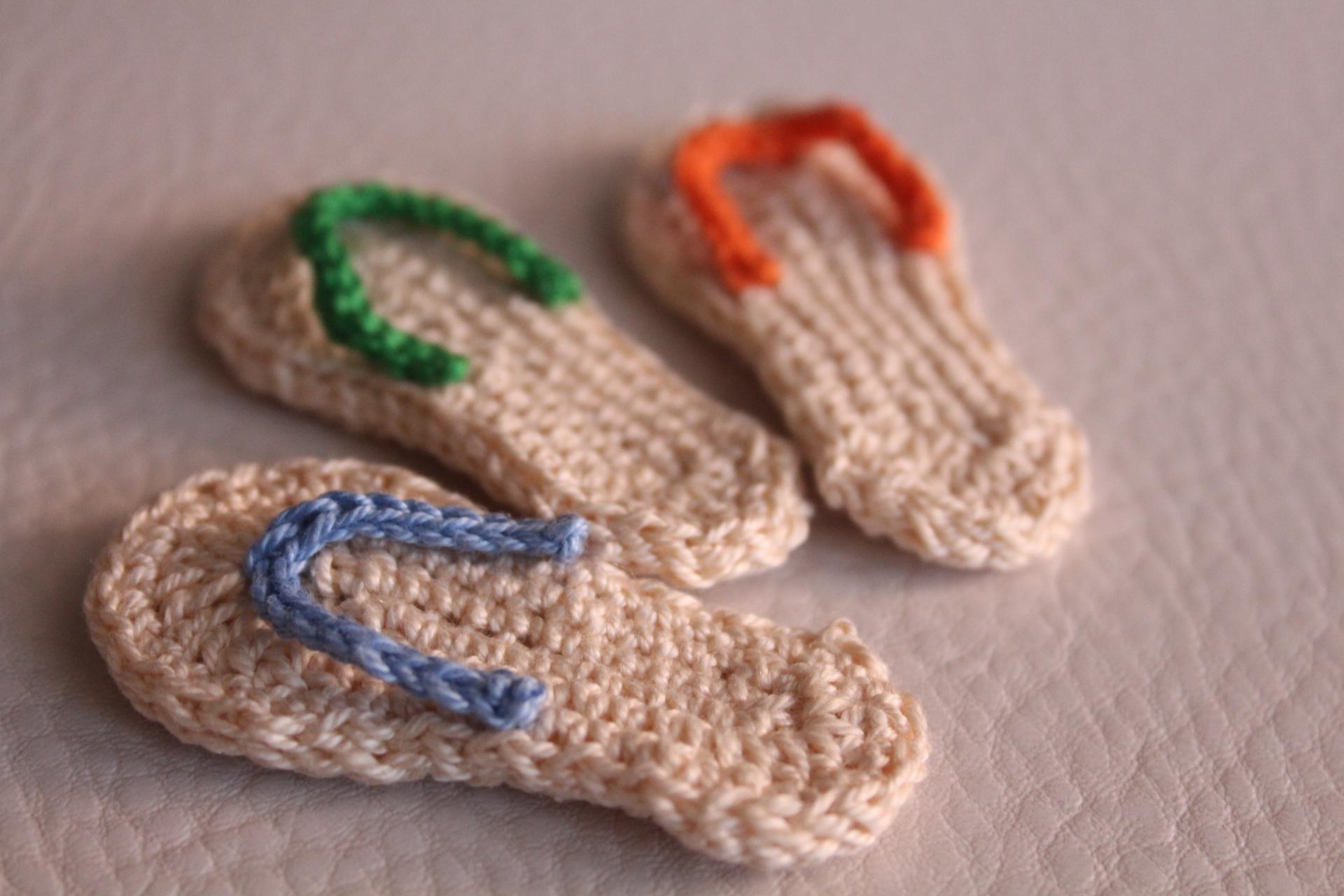 Ciabatte Infradito Schema Gratis Free Tutorial Crochet Uncinetto