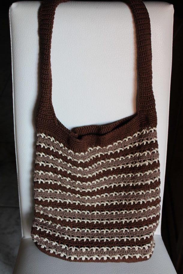 Borsa 3 Colori Uncinetto Crochet Tutorial Schema Gratis Free