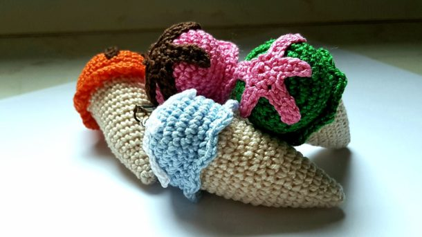 border crochet ice cream cones - free cross stitch patterns ... | 343x610